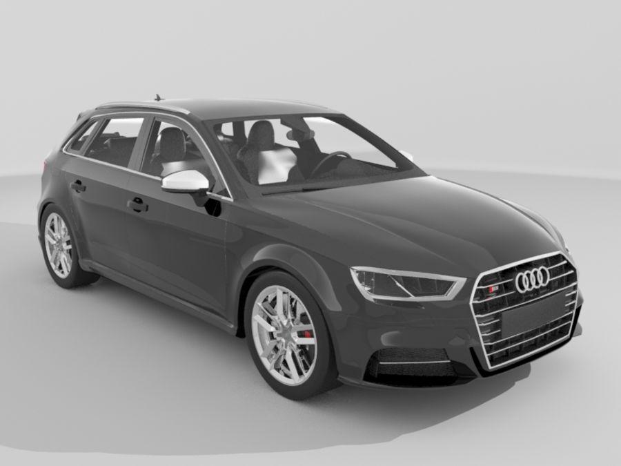 Audi S3 Sportback 2017 3d Model 69 Ma Obj Max Fbx Free3d