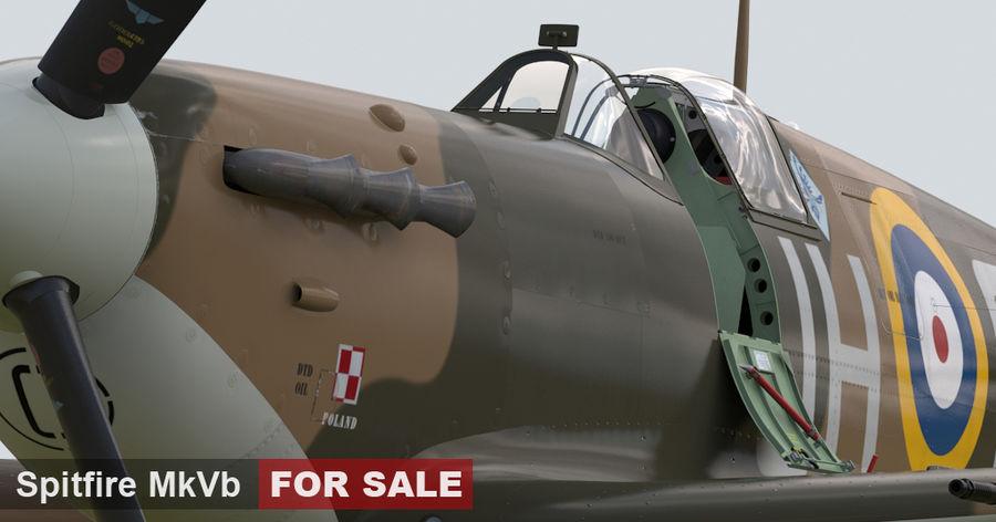 Spitfire Vb royalty-free 3d model - Preview no. 6