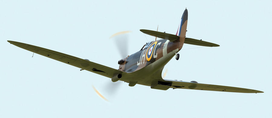 Spitfire Vb royalty-free 3d model - Preview no. 8