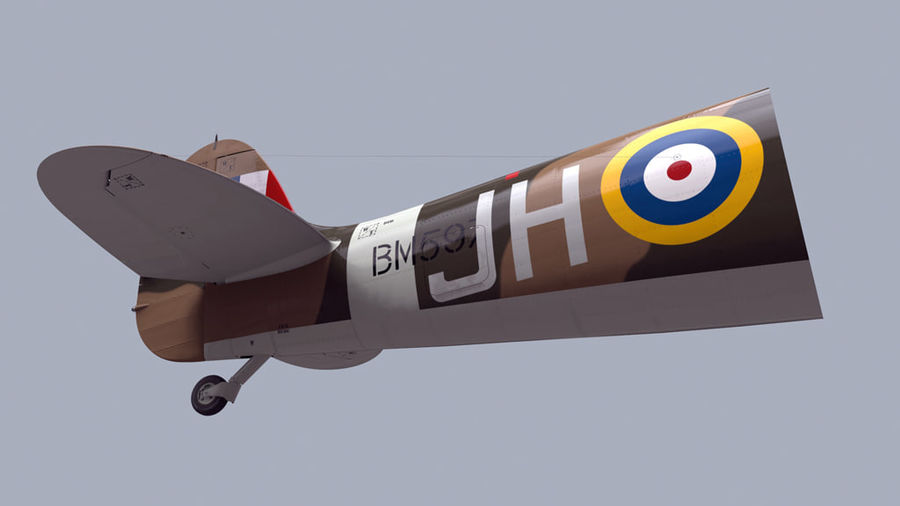 Spitfire Vb royalty-free 3d model - Preview no. 4