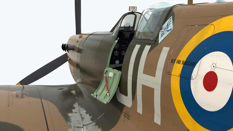 Spitfire Vb royalty-free 3d model - Preview no. 1