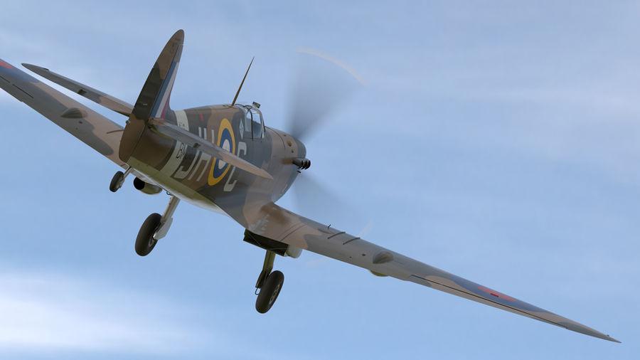 Spitfire Vb royalty-free 3d model - Preview no. 3