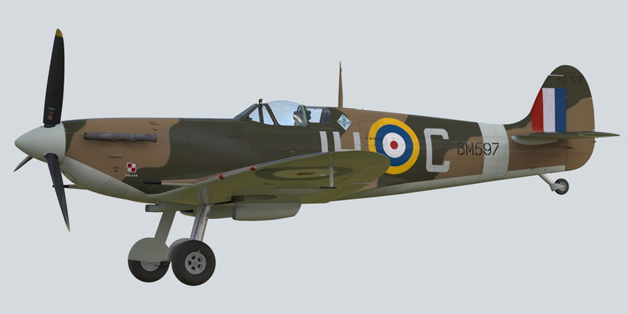 Spitfire Vb royalty-free 3d model - Preview no. 2