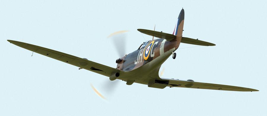 Spitfire Vb royalty-free 3d model - Preview no. 8