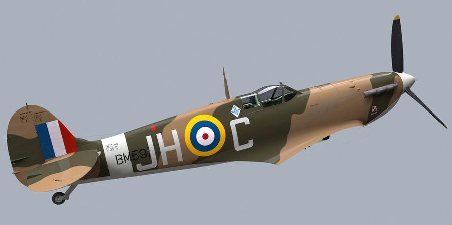 Spitfire Vb royalty-free 3d model - Preview no. 7