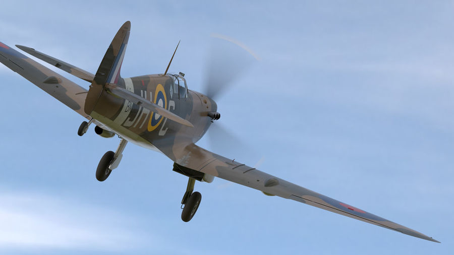 Spitfire Vb royalty-free 3d model - Preview no. 3