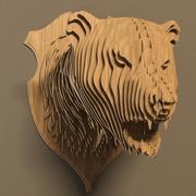 Bear head 3d model