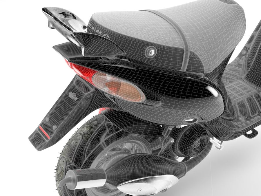 Scooter Gilera Stalker(1) royalty-free 3d model - Preview no. 15