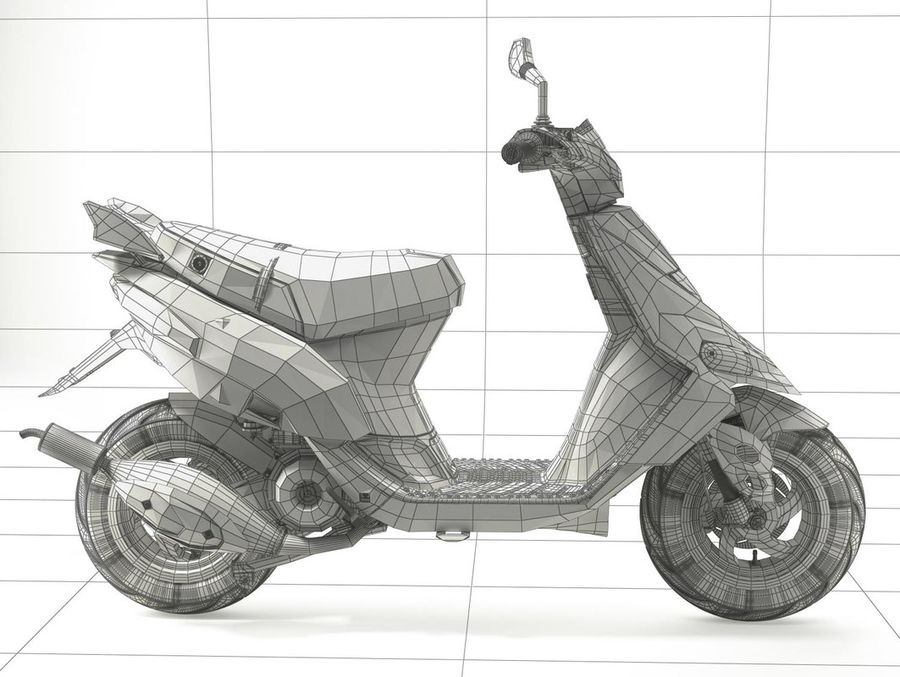 Scooter Gilera Stalker(1) royalty-free 3d model - Preview no. 16