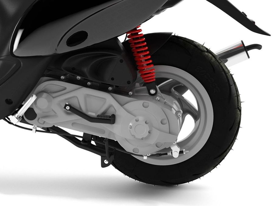 Scooter Gilera Stalker(1) royalty-free 3d model - Preview no. 8
