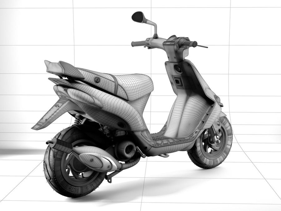 Scooter Gilera Stalker(1) royalty-free 3d model - Preview no. 13