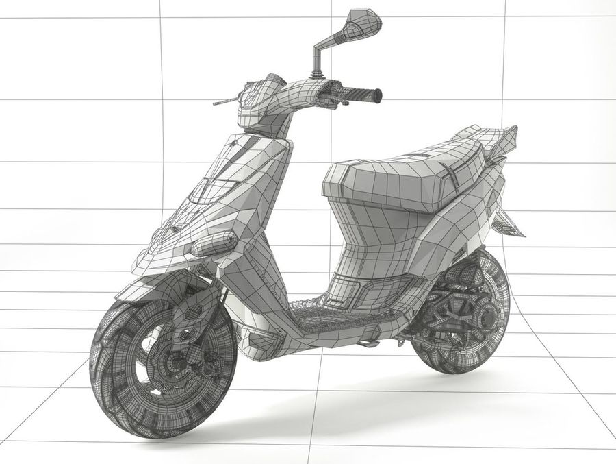 Scooter Gilera Stalker(1) royalty-free 3d model - Preview no. 17
