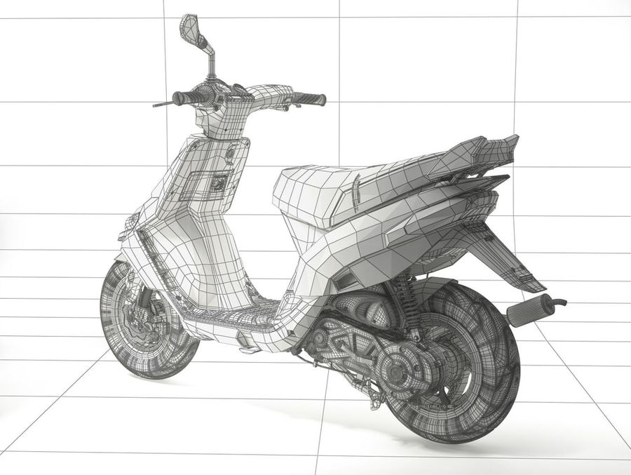 Scooter Gilera Stalker(1) royalty-free 3d model - Preview no. 20