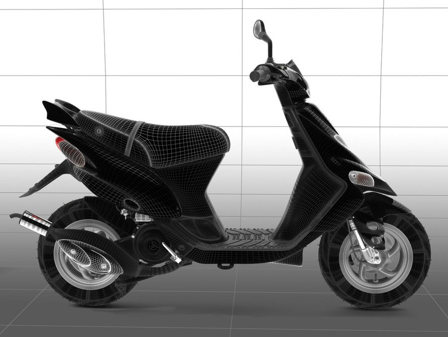 Scooter Gilera Stalker(1) royalty-free 3d model - Preview no. 18