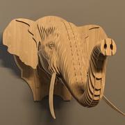 Elephant head 3d model