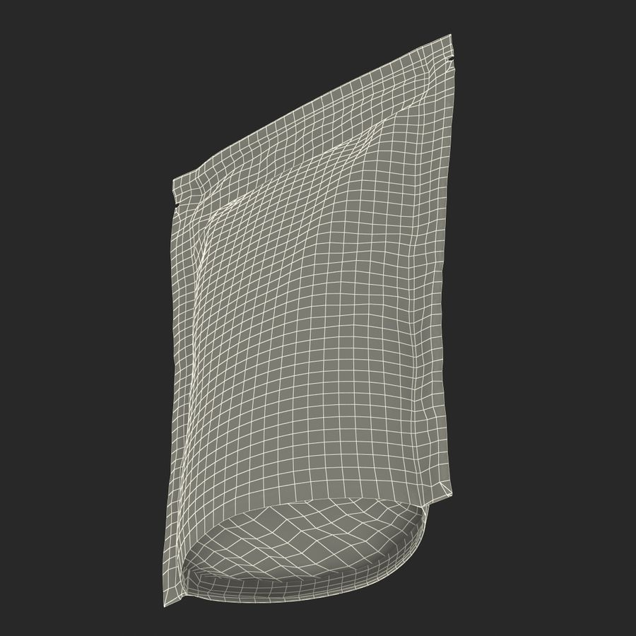 Food Vacuum Sealed Bag Black royalty-free 3d model - Preview no. 24