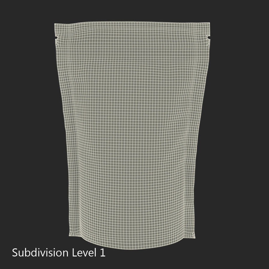Food Vacuum Sealed Bag Black royalty-free 3d model - Preview no. 18
