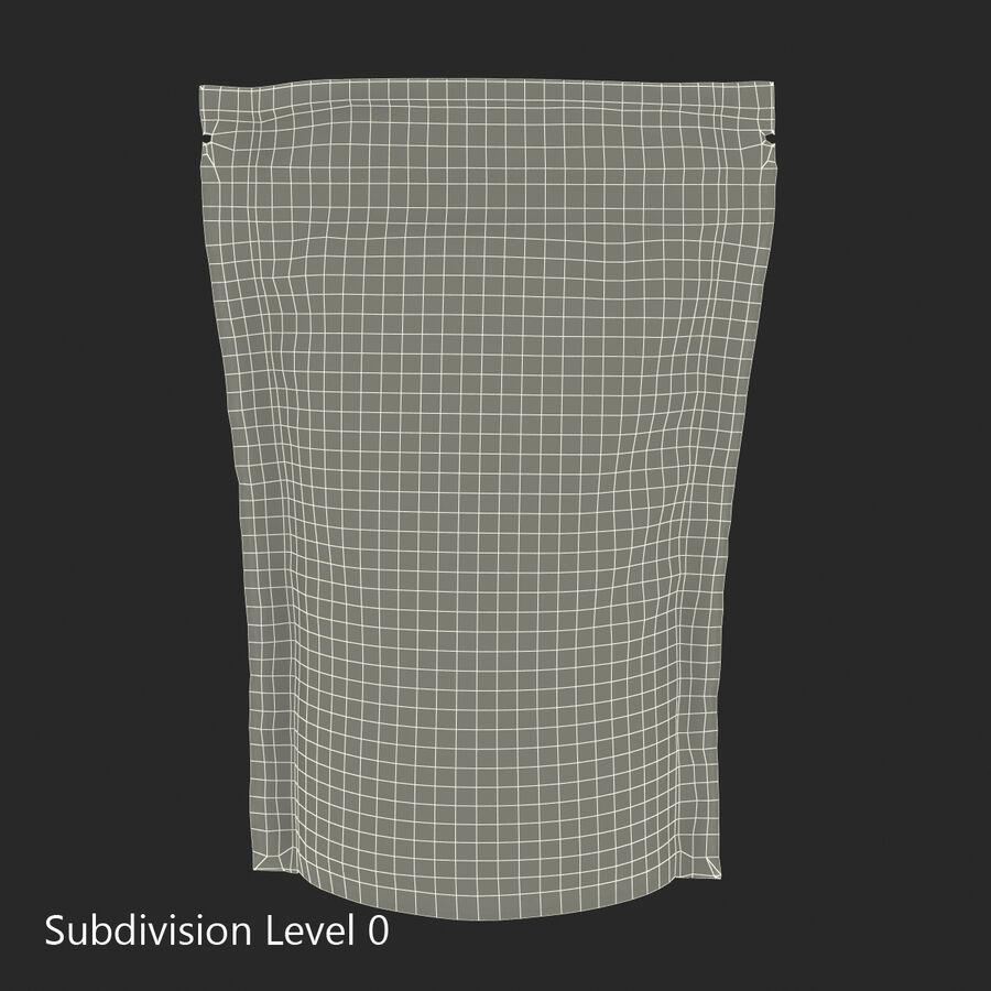 Food Vacuum Sealed Bag Black royalty-free 3d model - Preview no. 13