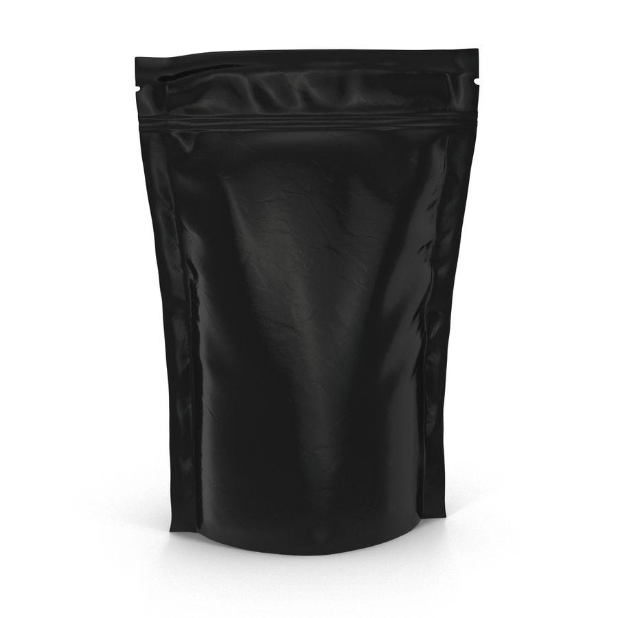 Food Vacuum Sealed Bag Black royalty-free 3d model - Preview no. 4