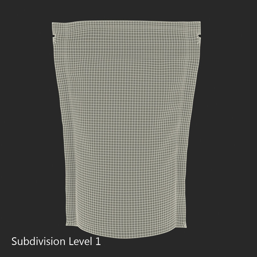 Food Vacuum Sealed Bag Black royalty-free 3d model - Preview no. 14