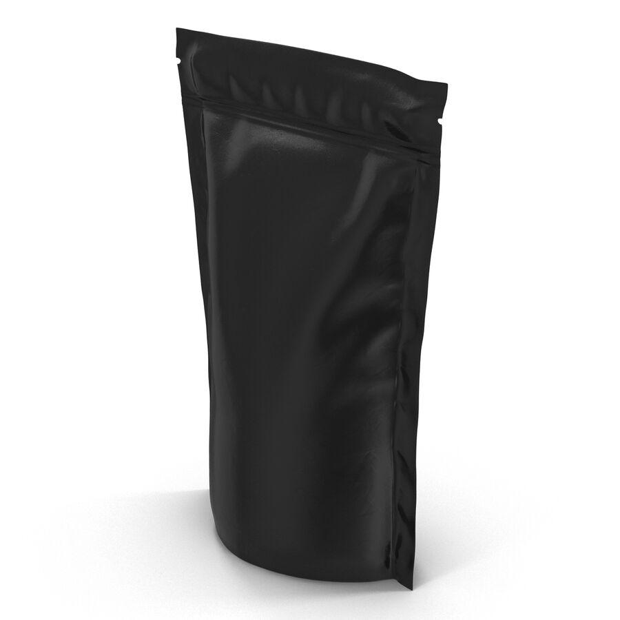 Food Vacuum Sealed Bag Black royalty-free 3d model - Preview no. 8