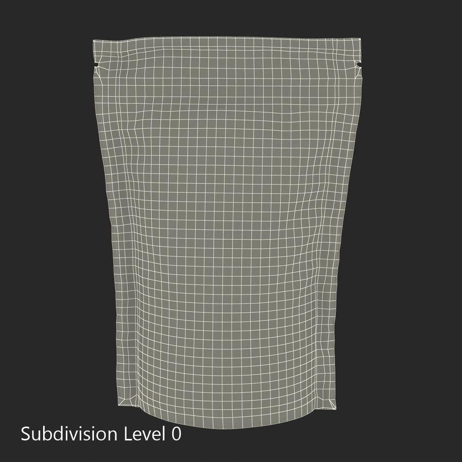 Food Vacuum Sealed Bag Black royalty-free 3d model - Preview no. 17