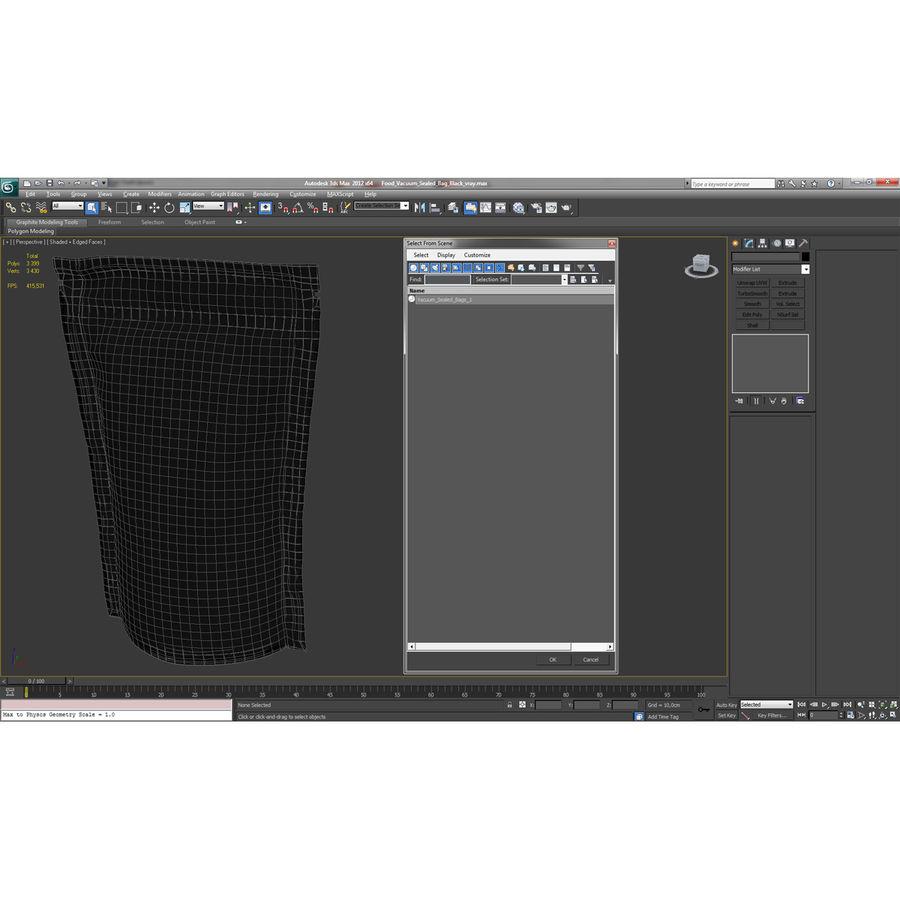 Food Vacuum Sealed Bag Black royalty-free 3d model - Preview no. 21