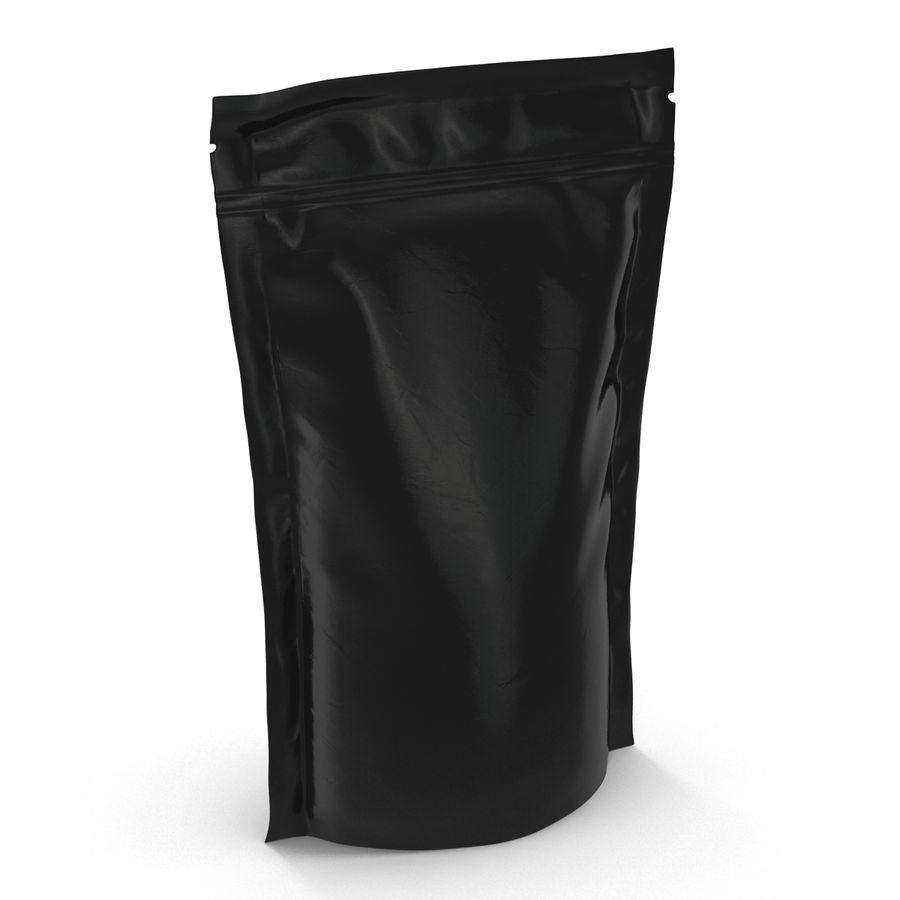 Food Vacuum Sealed Bag Black royalty-free 3d model - Preview no. 2