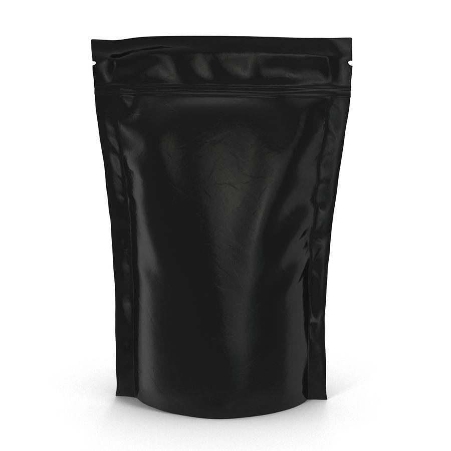 Food Vacuum Sealed Bag Black royalty-free 3d model - Preview no. 3