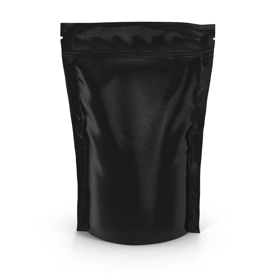 Food Vacuum Sealed Bag Black royalty-free 3d model - Preview no. 7