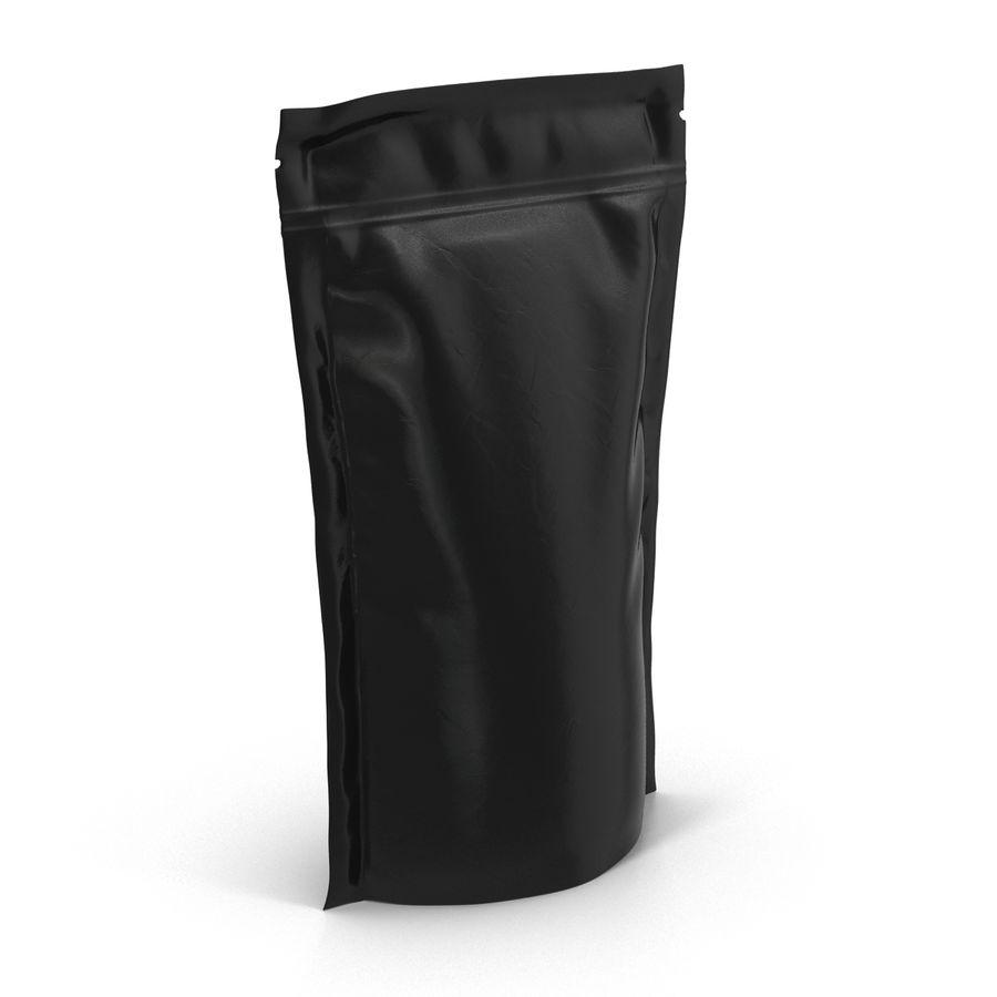 Food Vacuum Sealed Bag Black royalty-free 3d model - Preview no. 5