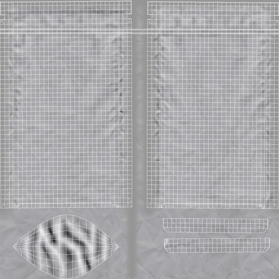Food Vacuum Sealed Bag Black royalty-free 3d model - Preview no. 15