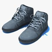 Generic Sport Shoes Black PBR 3d model