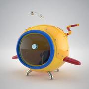 Стилизованный мультфильм подводная лодка 3d model