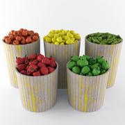 野菜バスケット 3d model