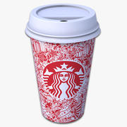 Takeout Coffee Cup (Starbucks Holiday Design) 3d model