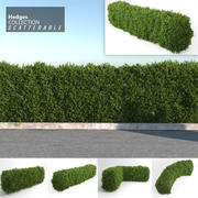 Hedges Collection (Scatterable) 3d model