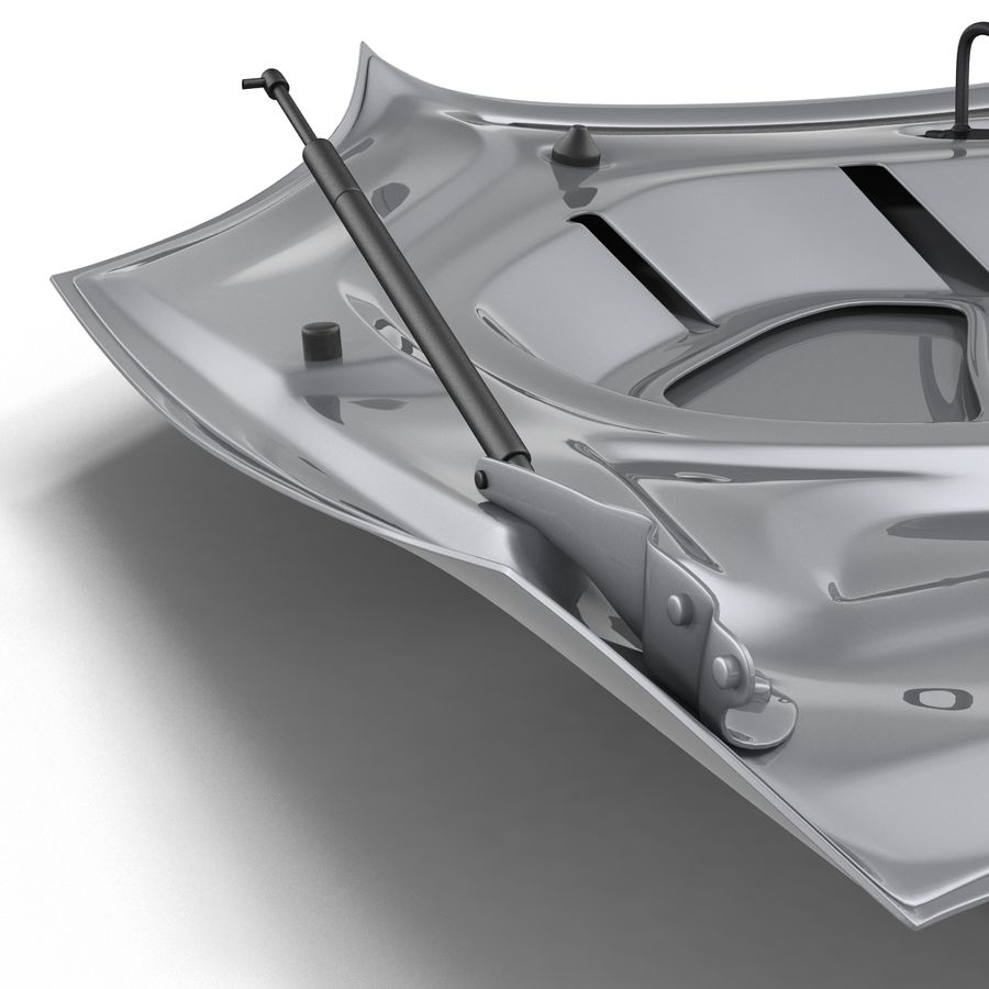 Car Hood royalty-free 3d model - Preview no. 19