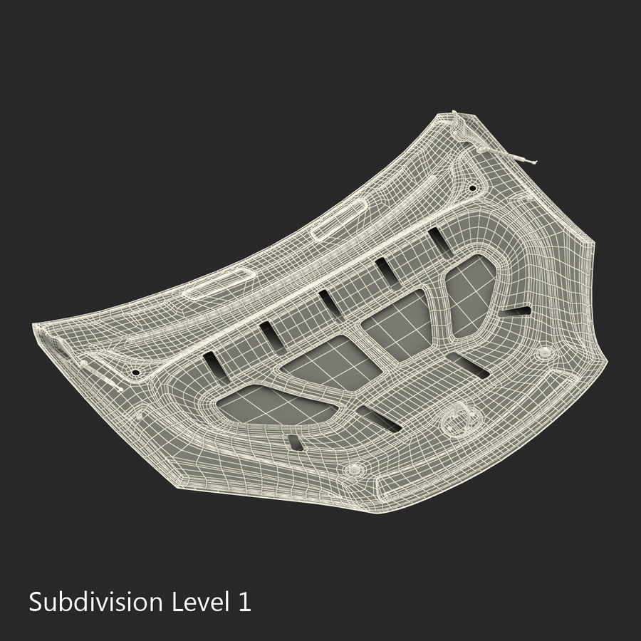 Car Hood royalty-free 3d model - Preview no. 23