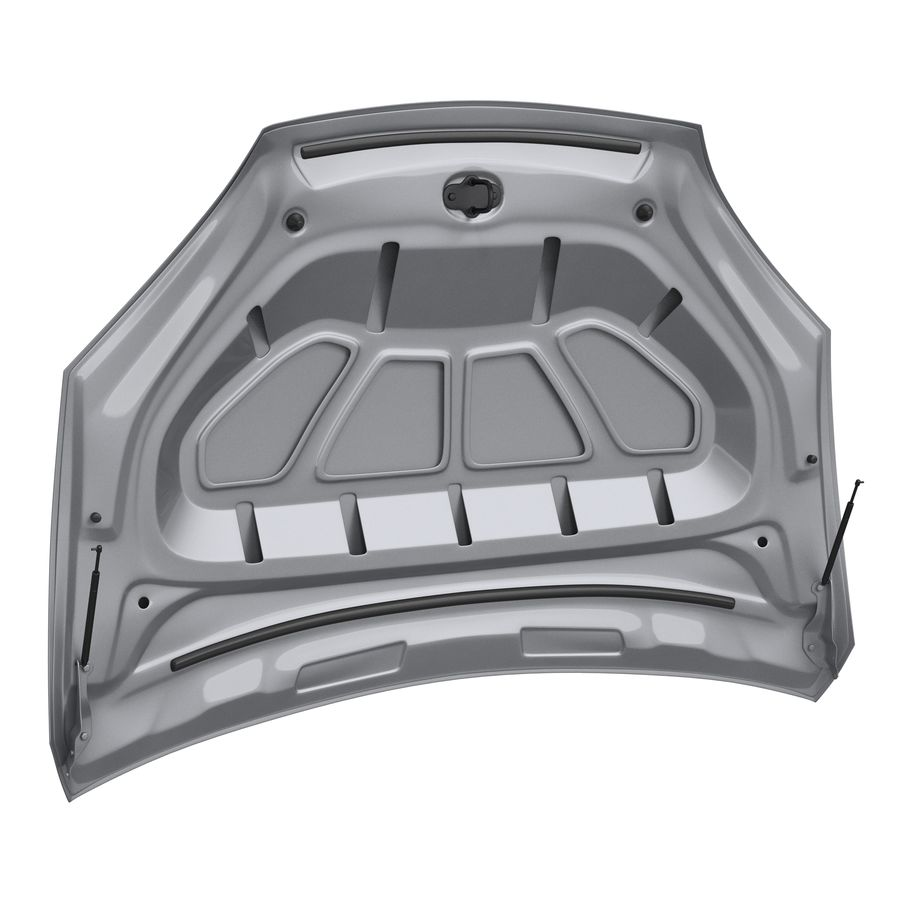 Car Hood royalty-free 3d model - Preview no. 2
