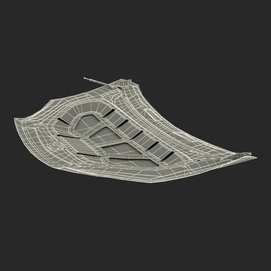 Car Hood royalty-free 3d model - Preview no. 28