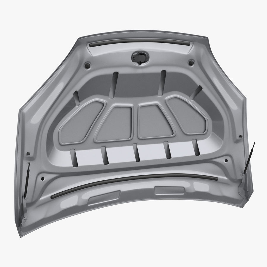 Car Hood royalty-free 3d model - Preview no. 1