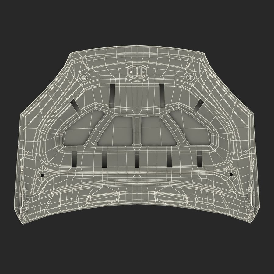 Car Hood royalty-free 3d model - Preview no. 30