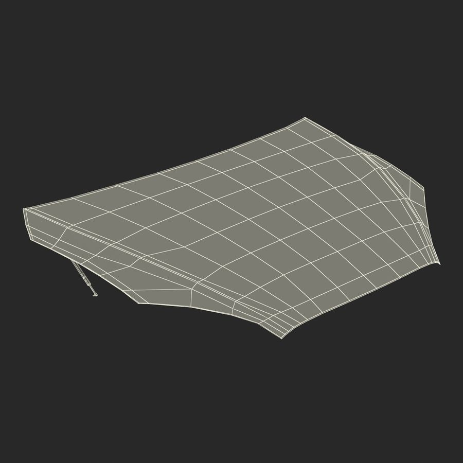 Car Hood royalty-free 3d model - Preview no. 27