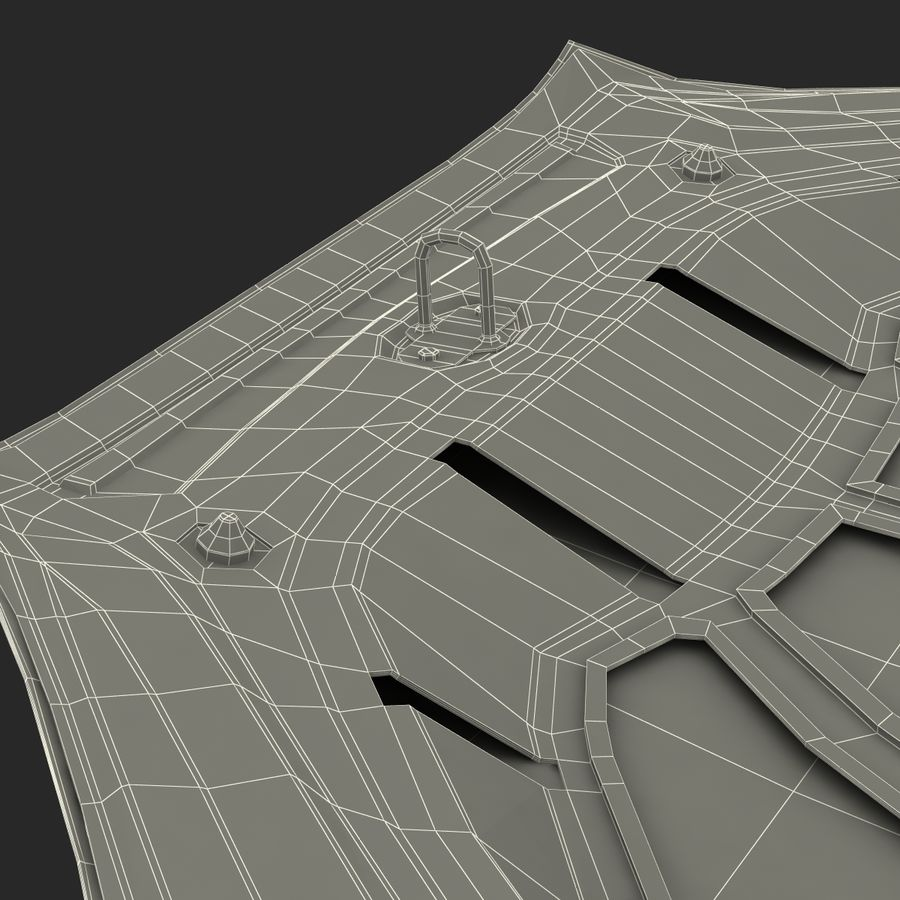 Car Hood royalty-free 3d model - Preview no. 34
