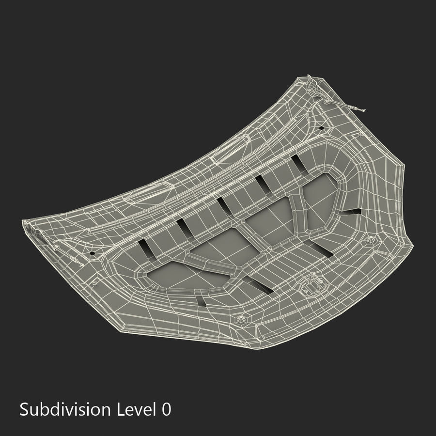 Car Hood royalty-free 3d model - Preview no. 22