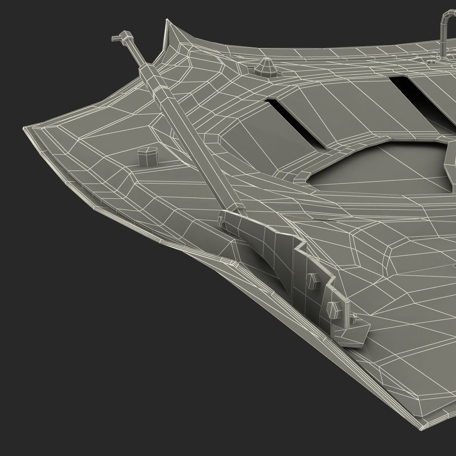 Car Hood royalty-free 3d model - Preview no. 32