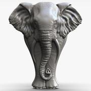 éléphant Sculpture bas-relief pour CNC 3d model
