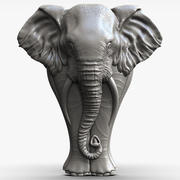 elephant Sculpture bas-relief  for CNC 3d model