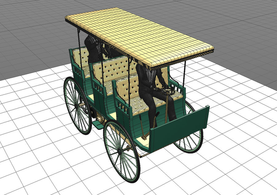 Vintage electric car royalty-free 3d model - Preview no. 6